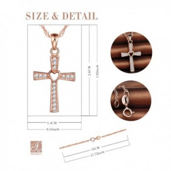 Infinite Crucifix Necklace Sterling Zirconia