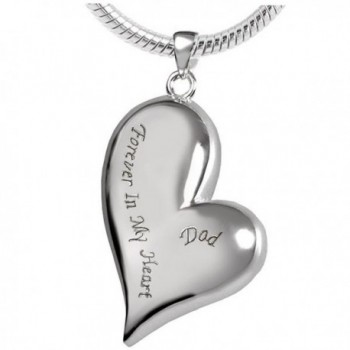 "Peerless Pieces Urn Necklace Cremation Memorial Keepsake Stainless Steel 18"" Forever In My Heart Dad 43 - CQ126FVIRCR"