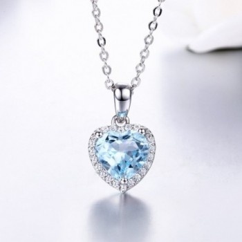 Genuine Natural Sterling Necklace Birthstone in Women's Pendants