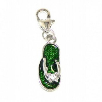 "Pro Jewelry Dangling ""Flip Flop Sandal"" Clip-on Charm - CE11NY7TZQX"