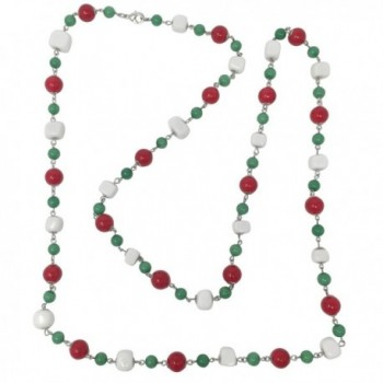 Long Multi Color Beaded Necklace - CH189535AQ9