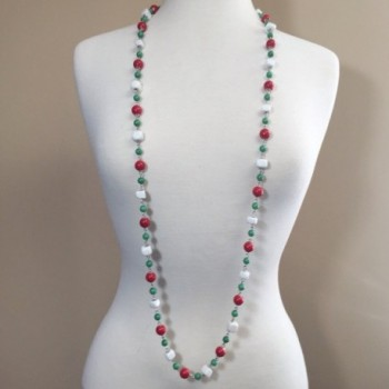 Multi Color Beaded Necklace Green