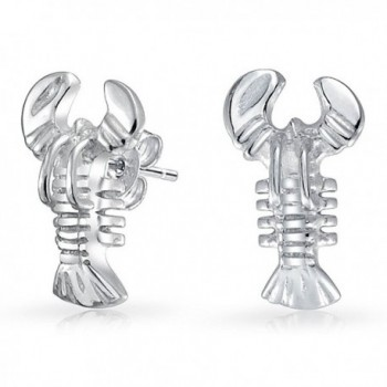 Bling Jewelry Nautical Lobster Small Stud earrings 925 Sterling Silver 11mm - C811KS9E4CZ