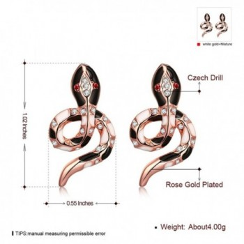 Eternity J Plated Color Earrings