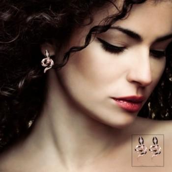 Eternity J Plated Color Earrings in Women's Stud Earrings
