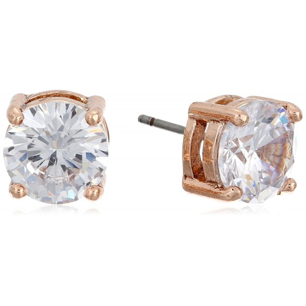 "Anne Klein ""Classic Rose"" Rose Gold-Tone Crystal Stud Earrings - C111LRK284Z"