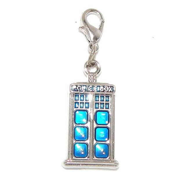 "Jewelry Monster Clip-on ""Police Box"" Charm Bead - CU11TBFGPGP"