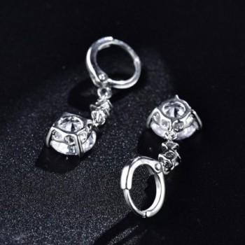 MASOP Zircon Leverback Earrings Jewelry