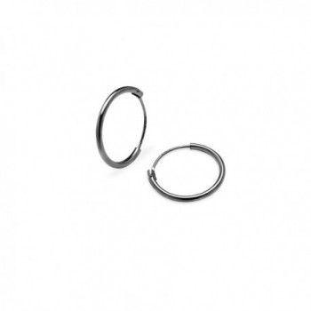 Endless Hoop Earrings Sterling Silver