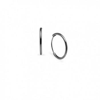 Endless Hoop Earrings Sterling Silver in Women's Hoop Earrings