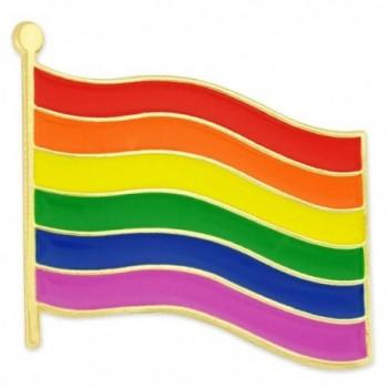 PinMart's Rainbow Gay Pride Flag LGBT Enamel Lapel Pin - CK11MDF12Q3