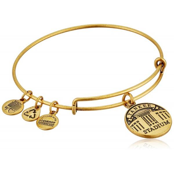 Alex and Ani Yankee Stadium Expandable Bangle Bracelet - Rafaelian Gold - C911JVXKR43