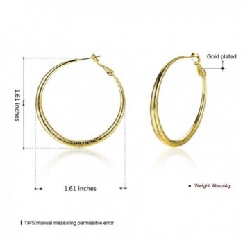 Eternity J Plated Earrings Diameter in Women's Hoop Earrings