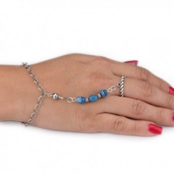 American West Lapis Chain Bracelet And Ring - C21296YOLJ3