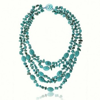 Stunning Strands Simulated Turquoise Necklace