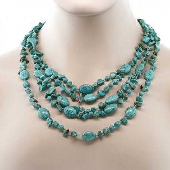 Stunning Strands Simulated Turquoise Necklace in Women's Strand Necklaces