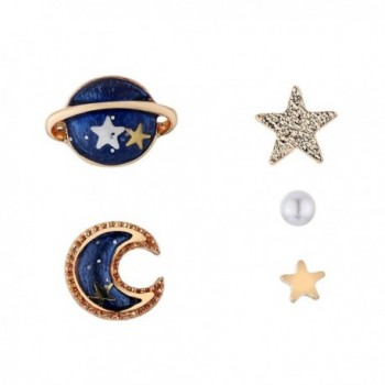 Nuwastone women's Moon & Star & Planet Earring Set - CN17Z274IY7