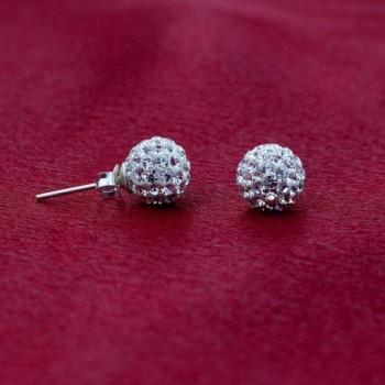Gem Avenue Sterling Crystal Earrings in Women's Stud Earrings