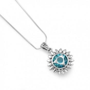 Sterling Vishuddha Healing Pendant Necklace