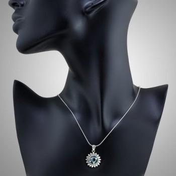 Sterling Vishuddha Healing Pendant Necklace in Women's Pendants