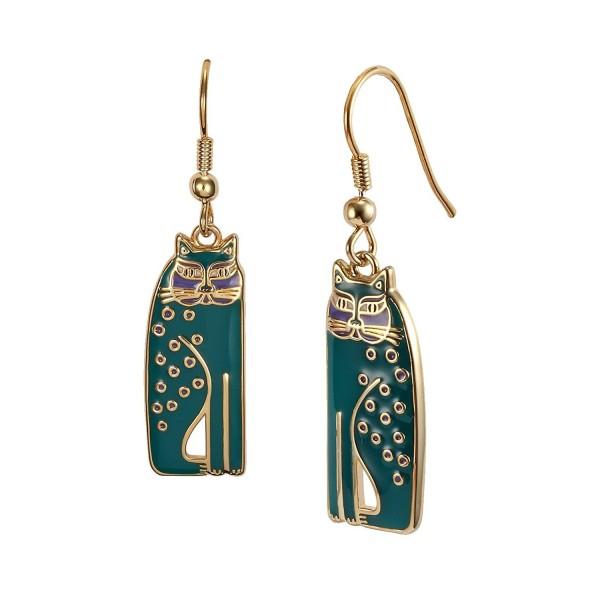 Laurel Burch Teal Siamese Cats Dangle Earrings - CH127ZATC4D