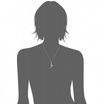Sterling Crystal Flamingo Pendant Necklace in Women's Pendants