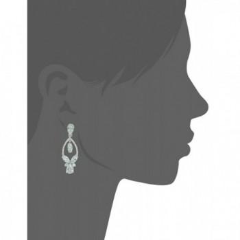 Anne Klein Silver Tone Zirconia Earrings