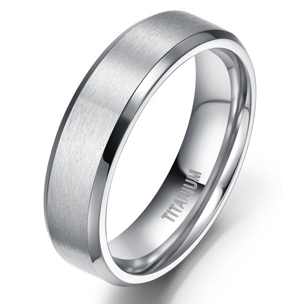 4MM/6MM/8MM Unisex Titanium Wedding Band Rings in Comfort Fit Matte Finish for Men Women - Metal-type-6mm - C0126767PD7