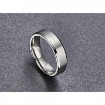 Titanium Brushed Beveled Wedding titanium