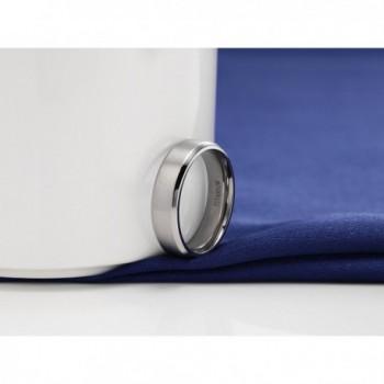 Titanium Brushed Beveled Wedding titanium in Women's Wedding & Engagement Rings