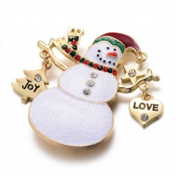 Christmas Holiday Crystal Snowman Jewelry