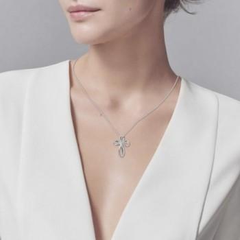 Sterling Zirconia Infinity Pendant Necklace in Women's Pendants