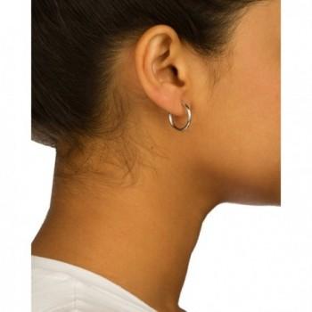 White Inches Basic Earrings GO 392 in Women's Hoop Earrings