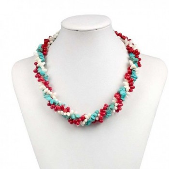 Cultured Freshwater Simulated Turquoise Necklace in Women's Jewelry Sets