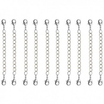 Nickel Free Necklace Bracelet Extender 10 Pc - 3 In. Long - No Tools Needed! USA!- in Silver Tone - CT11O26BEG9