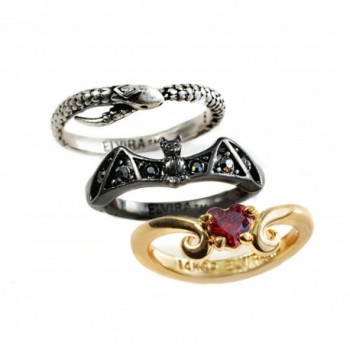 Elvira's Stacking Ring Set: Bat- Serpent- Heart - CK1877W9SSK