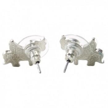 DaisyJewel Unicorn Pegasus Silvertone Earrings