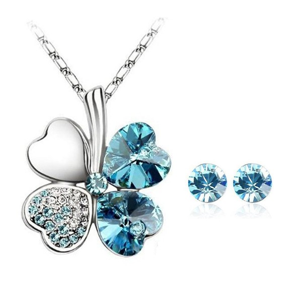 Swarovski Elements Crystal Necklace Earrings - C211DXL40U1