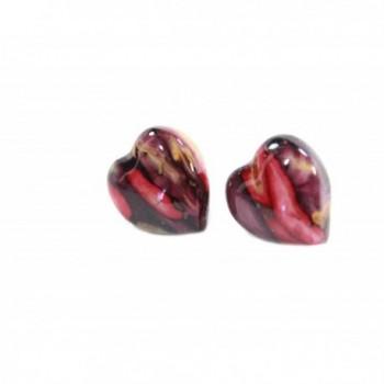 Heathergems Shaped Earrings Sterling Silver in Women's Stud Earrings