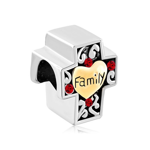 Charmed Craft Heart Love Family Religious Cross Charms or Sweet House Charms Beads for Bracelets - CK185A6YHIS