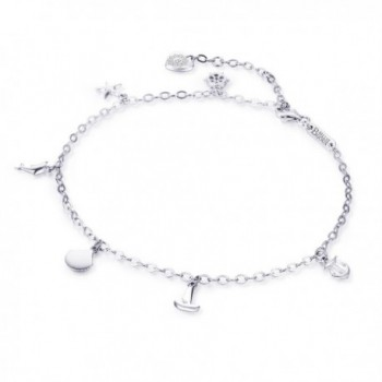 925 Sterling Silver Adjustable Anklet in Women's Anklets