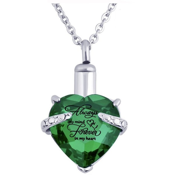 Cremation Necklace Jewelry Memorial Pendant - Green - CF185378NNH