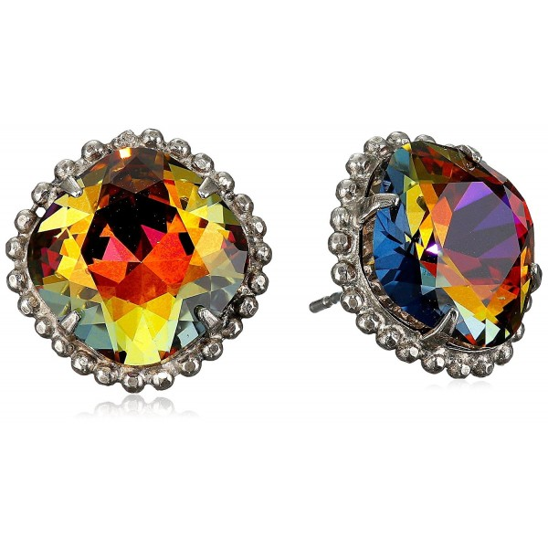 "Sorrelli ""Volcano"" Cushion-Cut Solitaire Earrings - Sorrelli Essentials - C311JG9SYBZ"