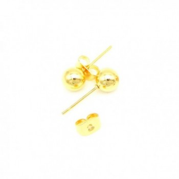 Goldenchen Yellow Plated Round Earrings in Women's Stud Earrings