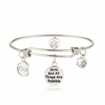 Inspirational Bracelet Engraved Possible Religious