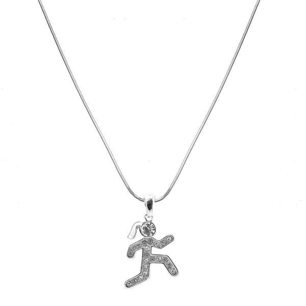 chelseachicNYC Crystal Marathon Runner Necklace - CN128YXGSXT