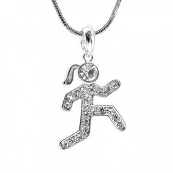 chelseachicNYC Crystal Marathon Runner Necklace