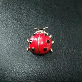 NOUMANDA Lovely Enamel Ladybug Brooch