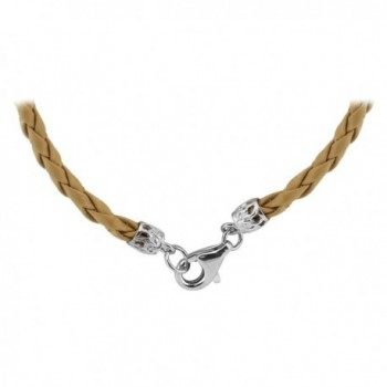 Gem Avenue Sterling Braided Necklace in Women's Chain Necklaces
