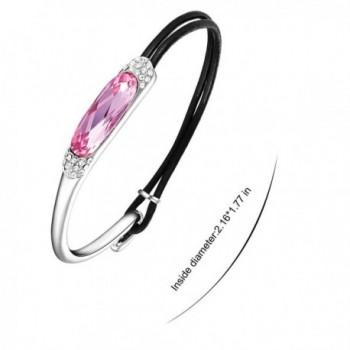 Mondaynoon Swarovski Stainless Bracelet Rope Gift in Women's Strand Bracelets